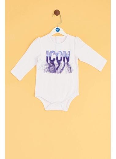 BG Baby Kız Bebek Beyaz Body Beyaz